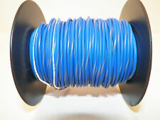 100 FOOT SPOOL 16 GAUGE GXL HI TEMP WIRE BLUE/GRAY STRIPE AUTOMOTIVE   FEET