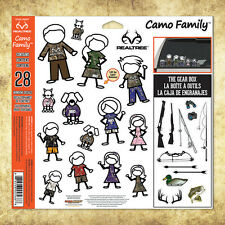 Camo Family™ 28-Piece Window Decal Set with Realtree® Camo