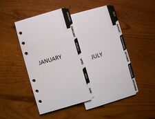 PERSONAL Size Monthly DIVIDERS - 'Black & White' #736 - Fits Filofax - 12 tabs
