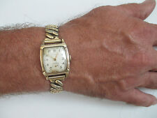 Vintage Gents Mans Wittnauer 10KGF Watch 10K GF Stretch Band