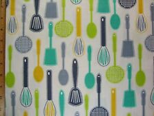 Cooking Tools Print end of bolt cotton fabric By The Yard Read Full Listing Info