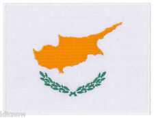 """Cyprus (embroidered) Country Flag Patch 4 3/4""""x 3 1/2"""" (12 x 9CM) approx"""