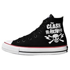 CONVERSE ALL STAR CHUCKS EU 35 UK 3 THE CLASH SKULL BLACK LIMITED EDITION NEU