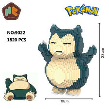 HC Anime Pokemon Snorlax Figure Diamond Mini DIY Building Nano Block Toy Monster