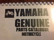 YAMAHA TZ 750 A PARTS LIST MANUAL CATALOGUE paper bound copy