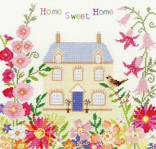 BOTHY THREADS HOME SWEET HOME WITH FLOWERS CROSS STITCH KIT - NEW XSS5