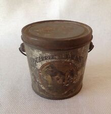 Old Tin Litho Squirrel Brand 1lb. Peanut Butter Advertising Pail Tin Can