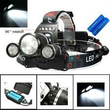 TORCIA LAMPADA FRONTALE LED 3 LED 15000 LUMEN T6 Headlight Bici headlamp+2x18650