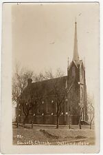 Antique RPPC Postcard Photo Swedish Lutheran Church Oakland NE Nebraska