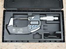 """Mitutoyo 342-361 ( 0-1""""/ 25.4mm ) Digital Point Micrometer 30° Point"""