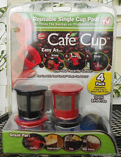 Cafe Cup Filter Reusable Single Serve Coffee Pod for Keurig Maker 4 Pack