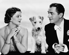 After the Thin Man Myrna Loy William Powell with dog 8x10 Photo