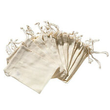 12Pc New Small Burlap Natural Linen Sack Jewelry Pouch Drawstring Gift Bags Xmas