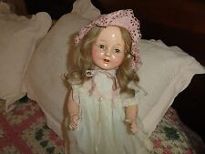 composition doll horsman 20 antique doll human hair wig