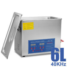 HFS Commercial Grade Digital Ultrasonic Cleaner Stainless Steel 6L 1.6G Capacity