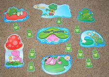 """Teacher Resource: """"Leap into Learning"""" Frog Bulletin Board Set - 23 Pieces"""