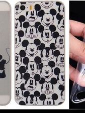 Mickey Mouse Faces Silicone Gel Case For iPhone 5/5s. BN.  Xmas Gift