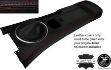RED STITCH CONSOLE & GAITER LEATHER COVERS FITS MAZDA MX5 MK3 05-14 STYLE 2