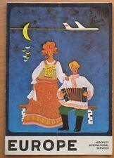 Russian Advertising Aeroflot Booklet Air Plane Ways Line Craft Europe Aviation
