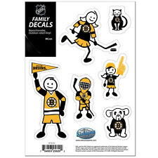 Boston Bruins Family Decals 6 Pack [NEW] Auto Car Stickers Emblems NHL CDG