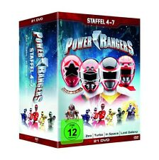 POWER RANGERS - STAFFEL 4-7   21 DVD NEU