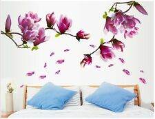 SHABBY CHIC PRETTY REMOVABLE WALL STICKER VINTAGE BEDROOM LOUNGE FLORAL MAGNOLIA