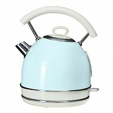 NEW! Retro Kitchen Duck Egg Electric Kettle Pastel Blue Cottage Aid Traditional