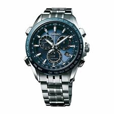 New Seiko Astron Solar GPS Chronograph Titanium Men's Watch SSE005