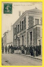 cpa RAMBOUILLET en 1909 (Yvelines) La POSTE et les Employés Caisse d'Epargne