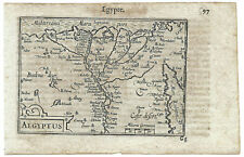 Carte ancienne ATLAS LANGENES old map 1609 EGYPTE Nil Caire Alexandrie Suez 597