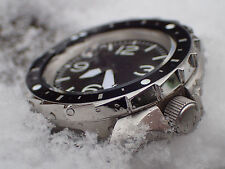 THE-LONG.SHARK POLISHED CUSTOM BEZEL FOR SEIKO SKX007 7S26 - 020 DX-07-A