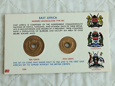 EAST AFRICA 1964 2 COIN MODERN UNCIRCULATED TYPE SET