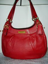 Coach Soho Cherry Leather Hobo Handbag Purse Satchel F19453 carryall shoulder