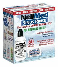 NeilMed Sinus Rinse 60 Sachets kit & 240ml bottle kit