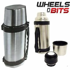1L STAINLESS STEEL HOT & COLD VACUUM FLASK TEA COFFE DRINK FOOD THERMOS Thermal