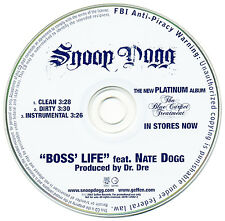 Snoop Dogg BOSS' LIFE Feat. Nate Dogg (Promo Maxi CD Single) (2007)