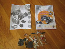 Erector Set INSTRUCTIONS & PIECES Meccano design radio control jeep 0359 8700