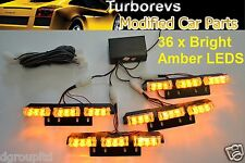 FLASHING WARNING RECOVERY VEHICLE BEACON AMBER LED 36 LEDS STROBE LIGHTING 12V