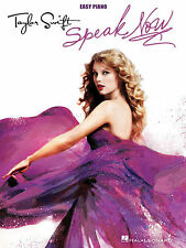 TAYLOR SWIFT SPEAK NOW EASY PIANO SHEET MUSIC SONG BOOK