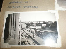 Old photograph approach to Lucknow railway train station India c1940s ref 5abc4