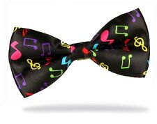 GIFTS FOR MEN Pre-Tied Mens Adjustable Music Tunes Notes Musical Party Bow Tie