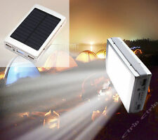 White Solar Power Bank 5X18650 Battery Charger Case Dual USB Box 20 LED DIY Kit