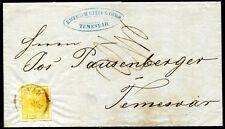 ÖSTERREICH 1850 1X auf ORTSBRIEF TEMESVAR gelaufen 1857 ! (S7677
