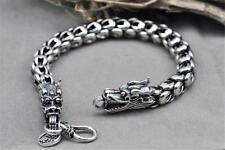 Luxes Herren Armband echt 925 Sterling Silber Drachen 22cm*7mm 49Gramm