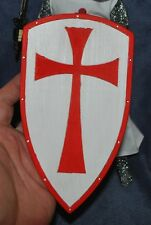 "Custom Wood Templar Knight Shield for 1/6 scale 12"" Action Figure Man.Dragon"