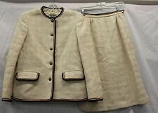 Jaegar Womens Vintage Skirt Suit Set 100% Wool Made In Britain Size 8 Used 1950s