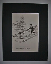 Dog Cartoon Print Norman Thelwell Tracker Blood Bank Bookplate 1964 8x10 Matted