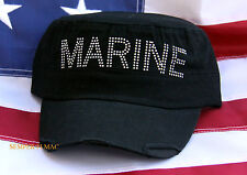 US MARINES BLING HAT CAP NEICE GIRLFRIEND WIFE AUNT MOM GRANDMOTHER MCRD WOWMH
