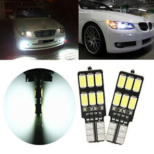 2x T10 W5W T10 5630 LED 12 SMD 3.2W CANBUS Car Interior Side Number Bombilla luz