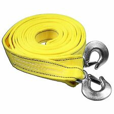 5 Tons Car Tow Cable Towing Strap Rope with Hooks Emergency Heavy Duty 16 FT